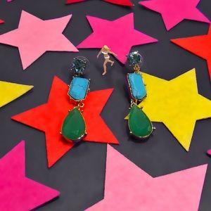 Crystal Fiesta Linear earrings